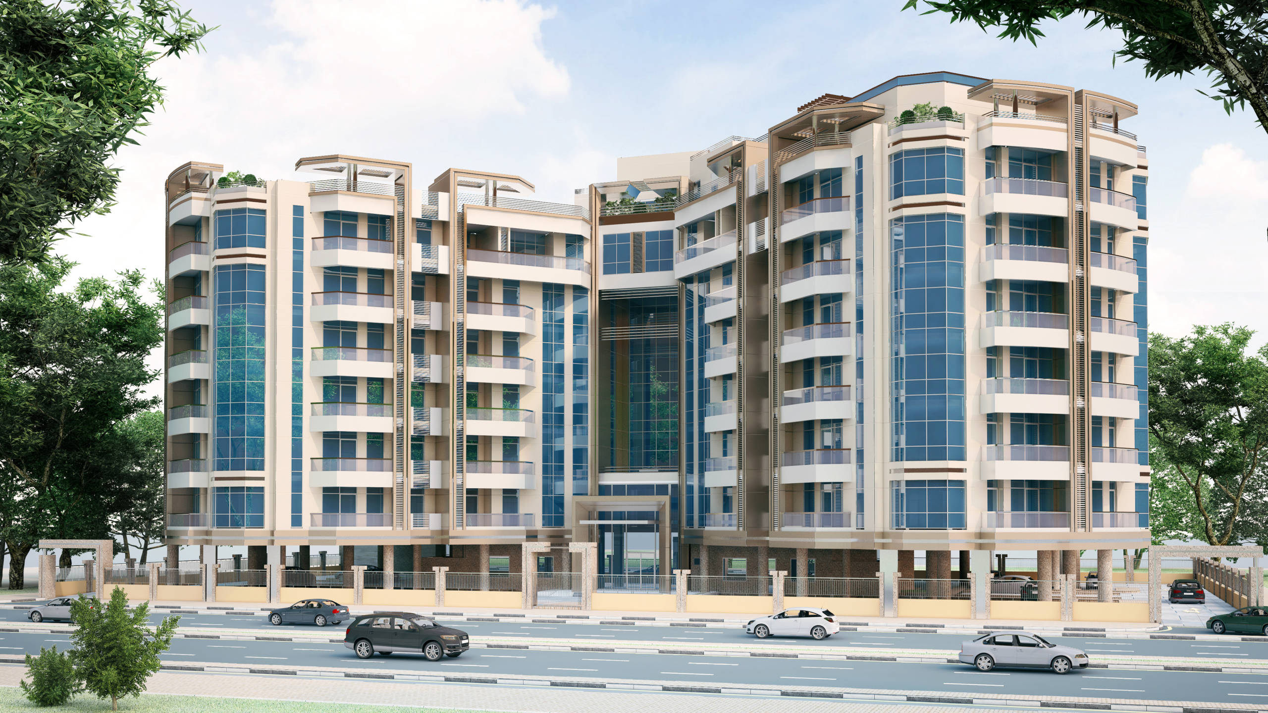 G+7 Residential Building – Dubai